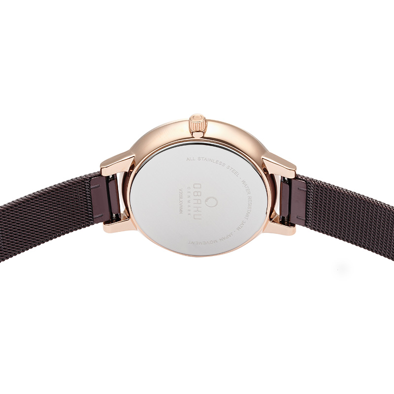 Obaku Women watch LIV - WALNUT BACK view