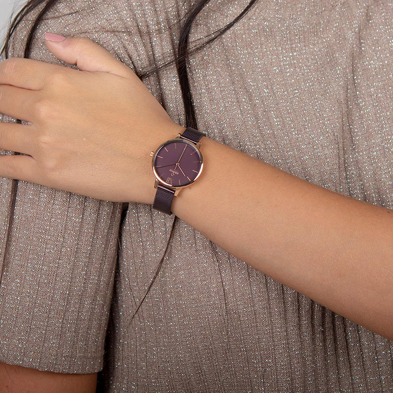Obaku Women watch LIV - WALNUT WRIST view