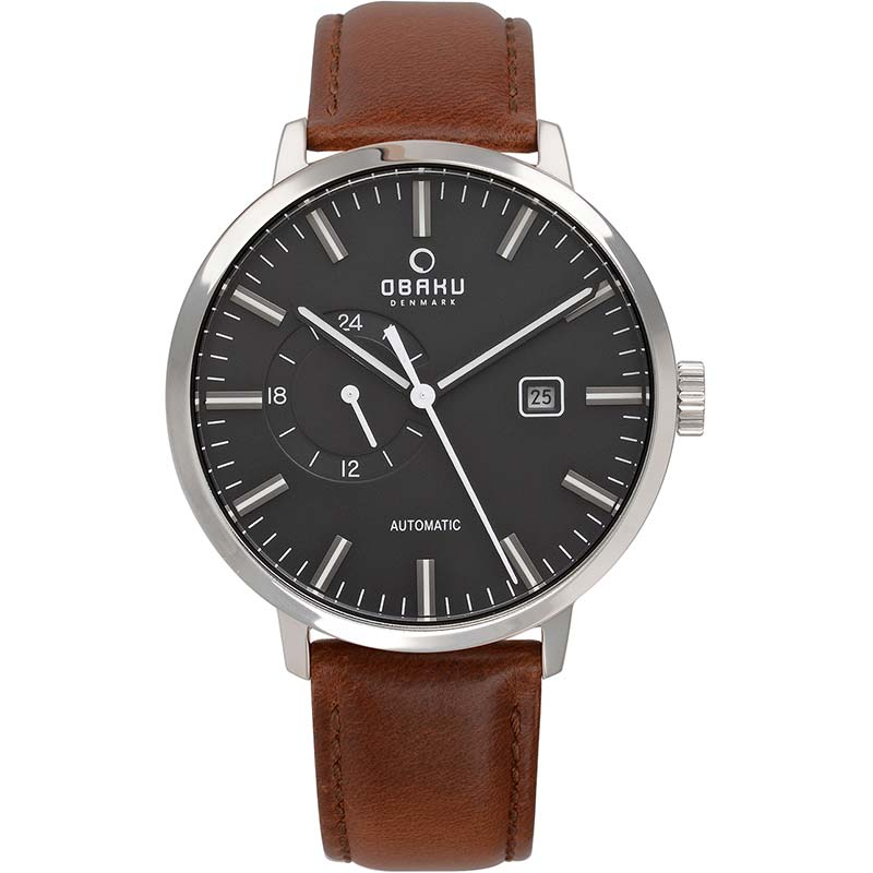 Obaku Men watch UTROLIG - UMBER FRONT view