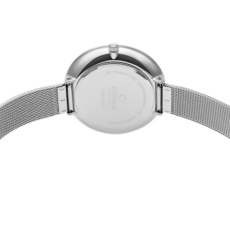 Obaku Women watch MYNTE - STEEL BACK view