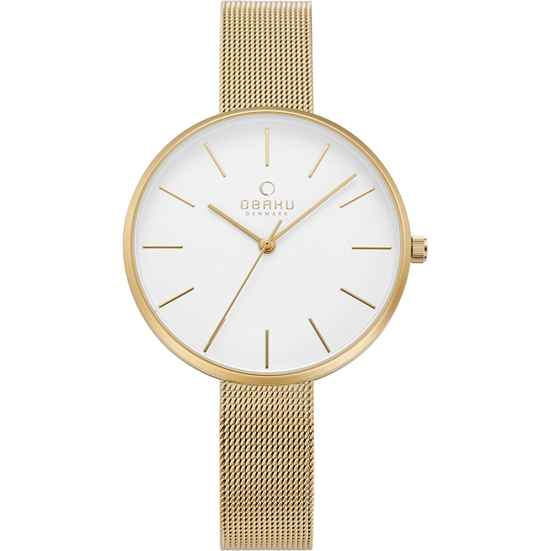 Obaku Women watch MYNTE - GOLD FRONT view