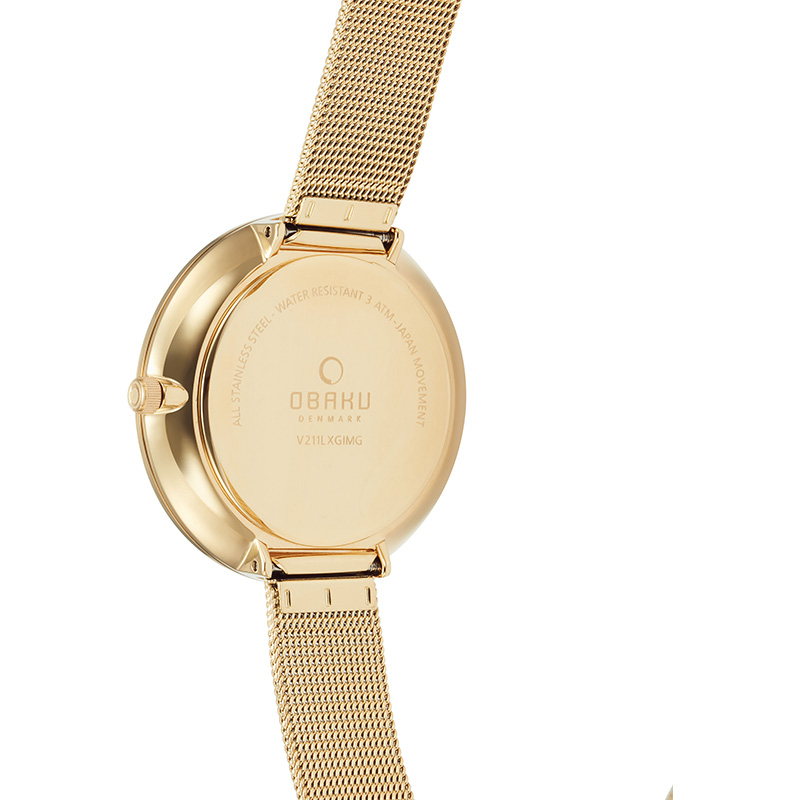 Obaku Women watch MYNTE - GOLD BACK view