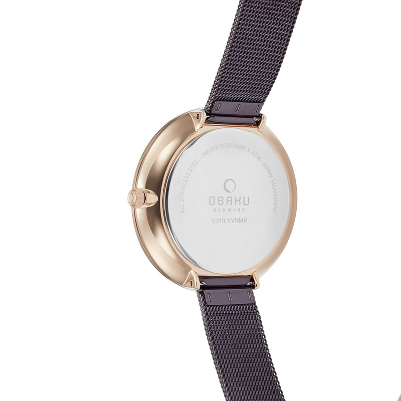 Obaku Women watch MYNTE - WALNUT BACK view