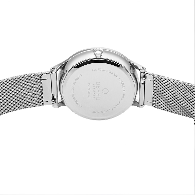 Obaku Women watch LIND - STEEL BACK view