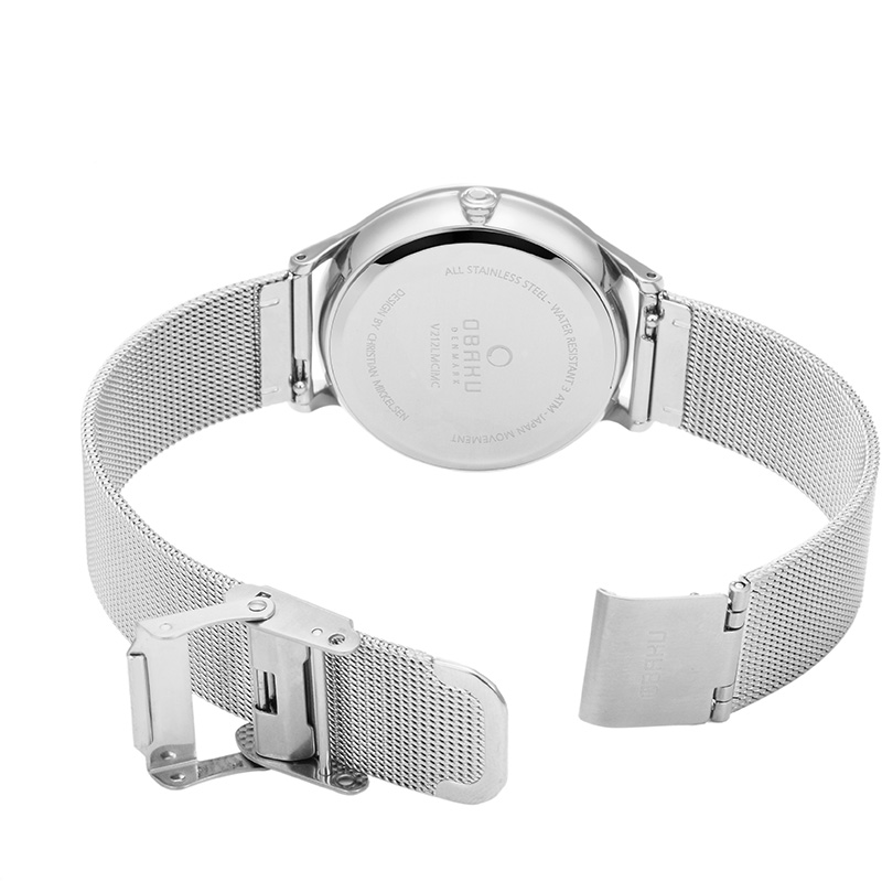 Obaku Women watch LIND - STEEL OPEN view