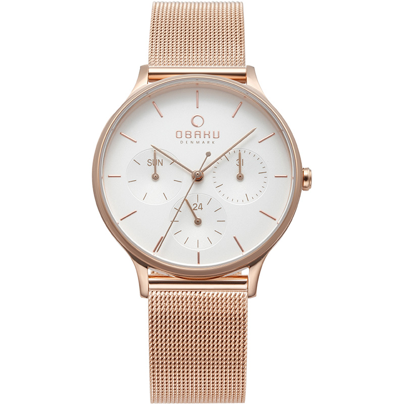 Obaku Women watch LIND - ROSE FRONT view