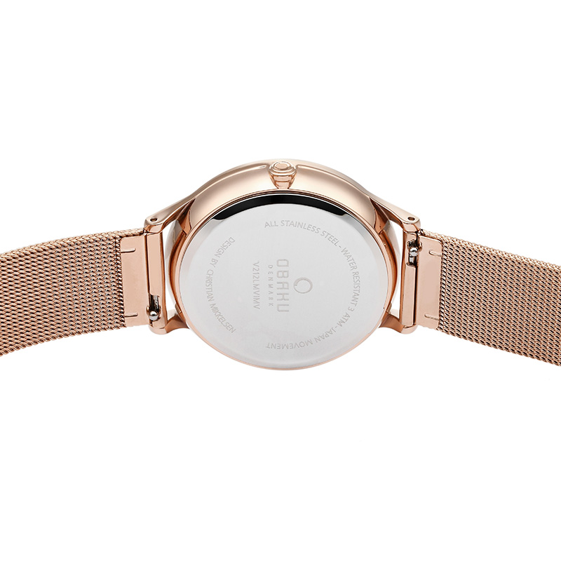 Obaku Women watch LIND - ROSE BACK view