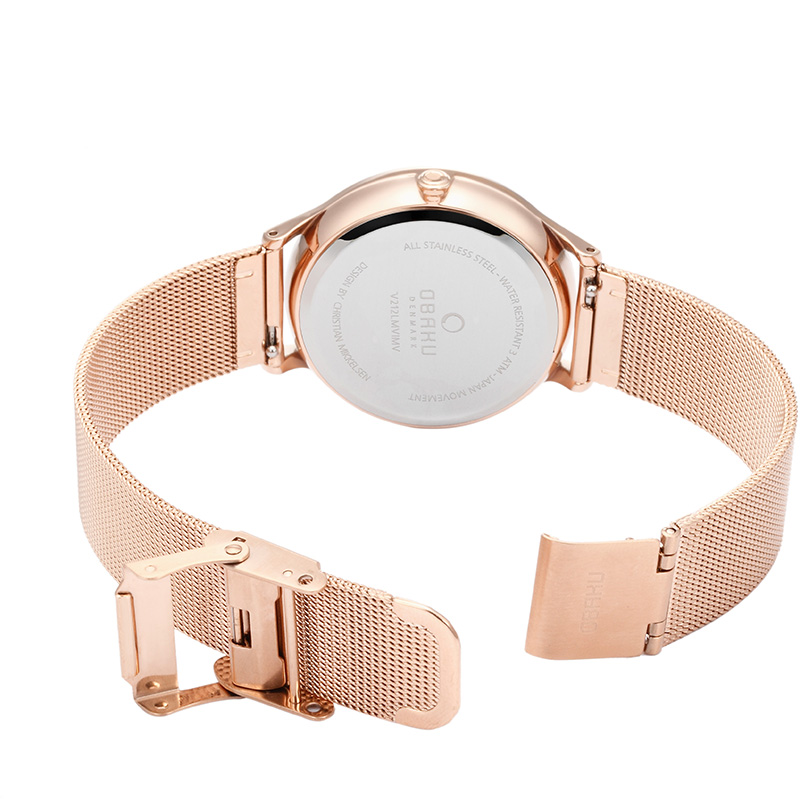 Obaku Women watch LIND - ROSE OPEN view