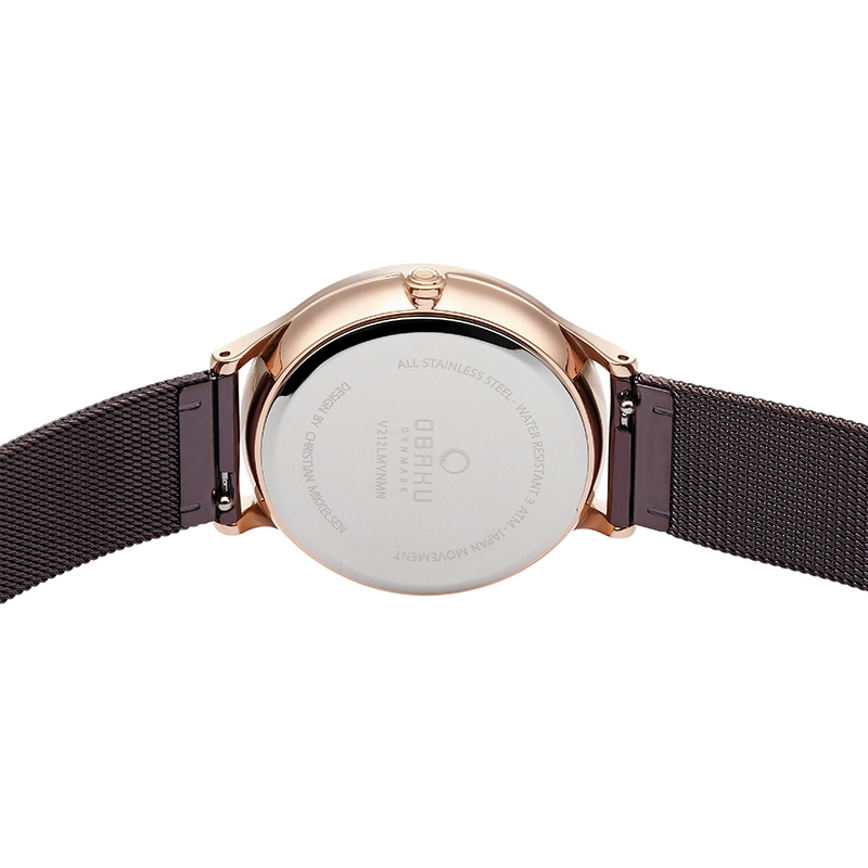 Obaku Women watch LIND - WALNUT BACK view