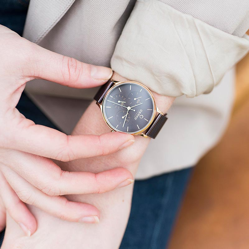 Obaku Women watch LIND - WALNUT SM1 view