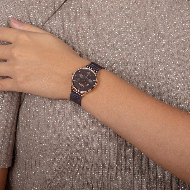 Obaku Women watch LIND - WALNUT WRIST view