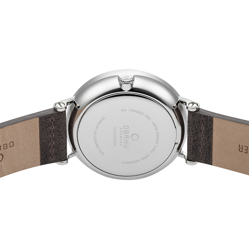 Obaku Men watch ELM - CLAY BACK view