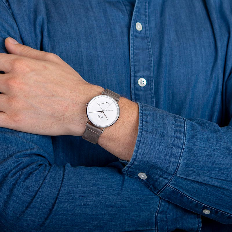 Obaku Men watch ELM - CLAY WRIST view