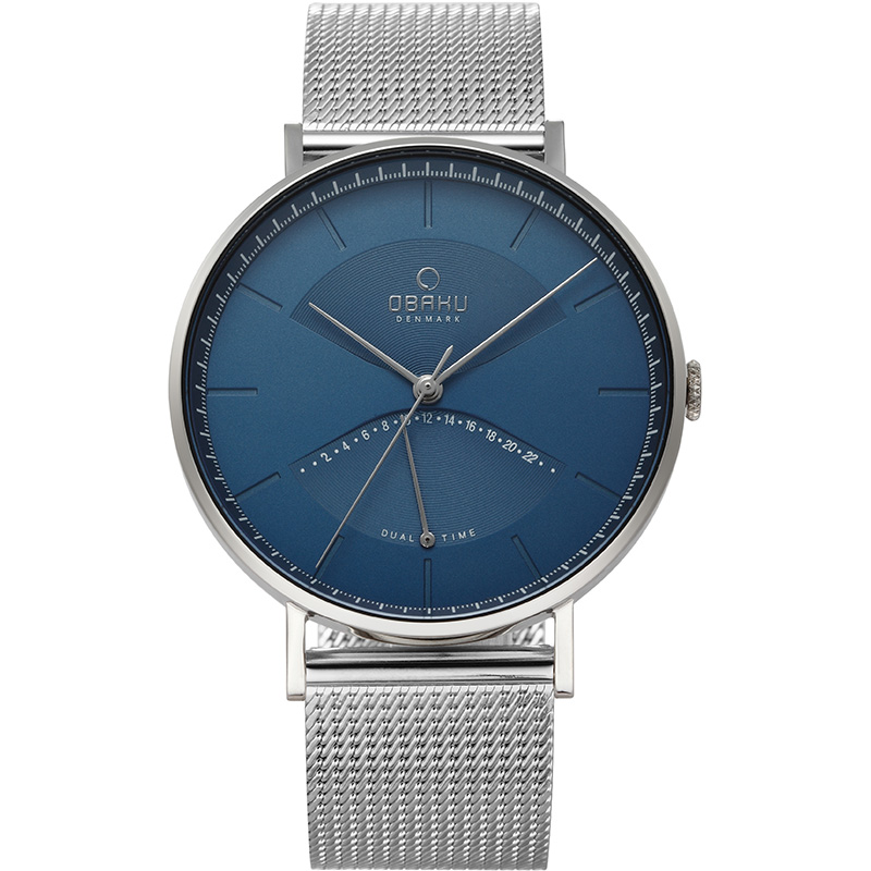 Obaku Men watch ELM - CYAN FRONT view