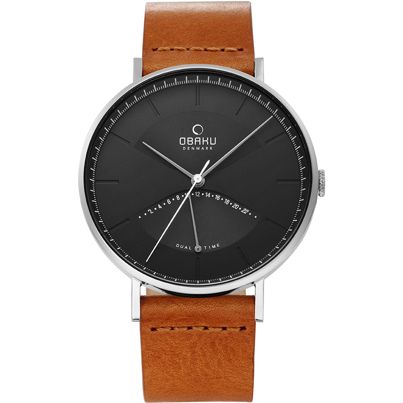Obaku Men watch ELM - CAMEL FRONT view