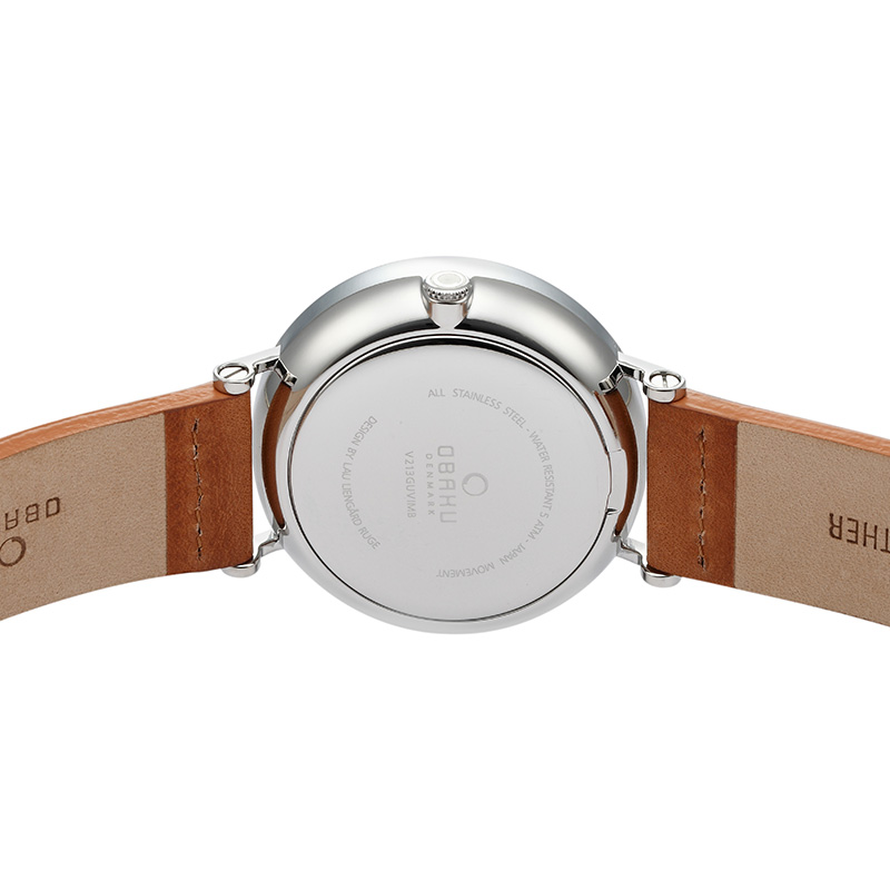 Obaku Men watch ELM - CAMEL BACK view