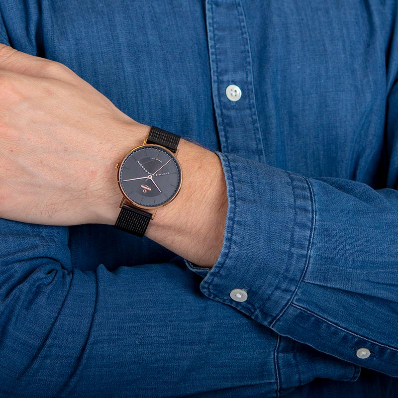 Obaku Men watch ELM - NIGHT WRIST view