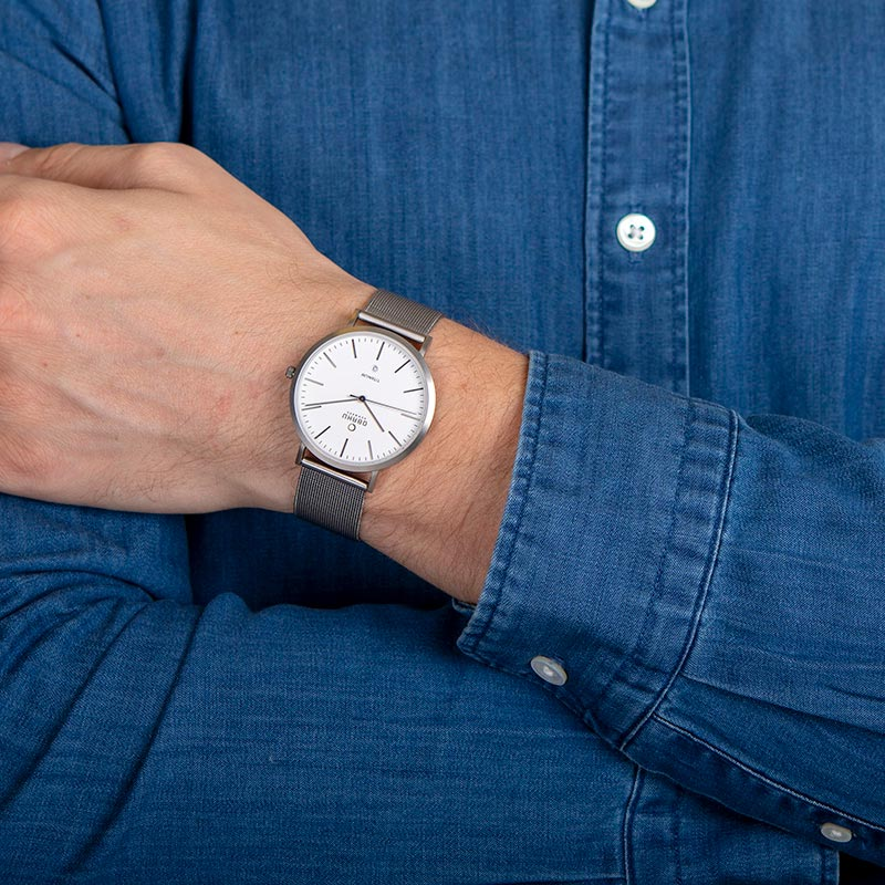 Obaku Men watch HAVRE - TITANIUM WRIST view