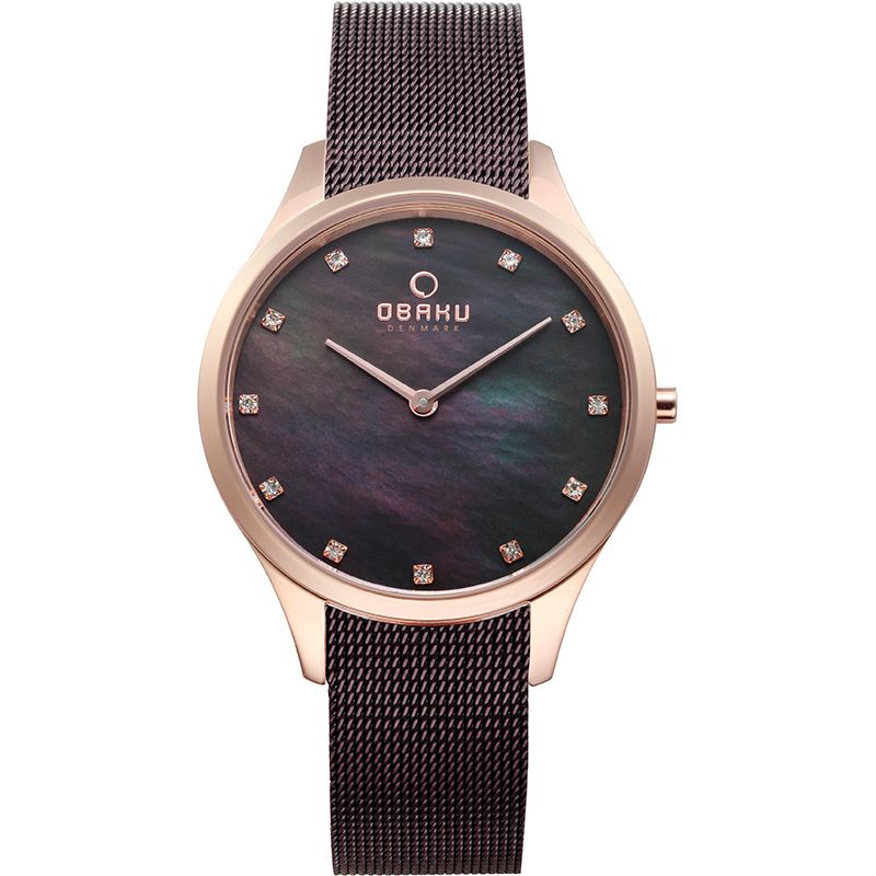 Obaku Women watch FIN - WALNUT FRONT view