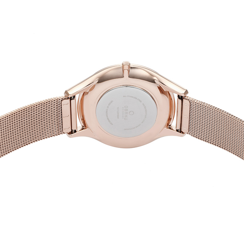 Obaku Women watch FIN - ROSE BACK view