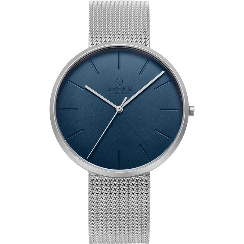 Obaku Men watch HASSEL - CYAN FRONT view
