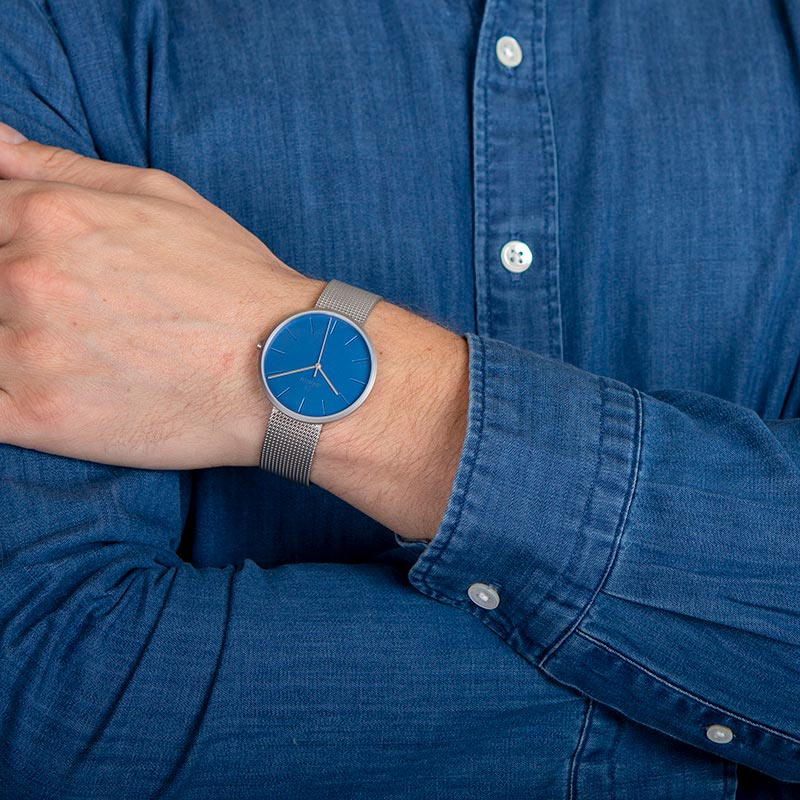 Obaku Men watch HASSEL - CYAN WRIST view