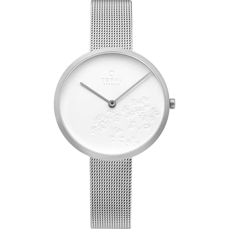 Obaku Women watch HASSEL NATUR - STEEL FRONT view