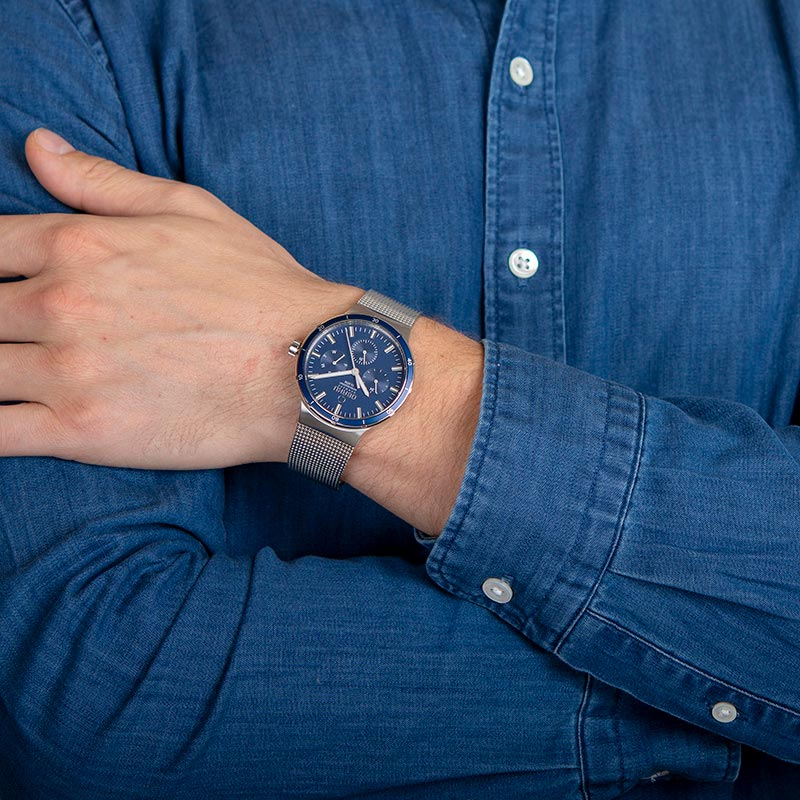 Obaku Men watch DYB - CYAN WRIST view