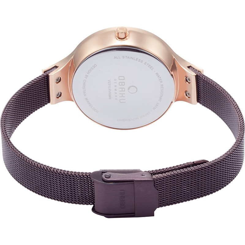 Obaku Women watch GRY - WALNUT CLOSE view