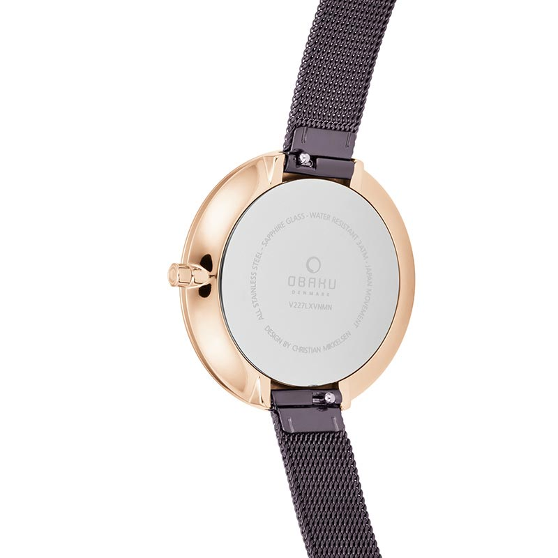 Obaku Women watch DOK - WALNUT BACK view