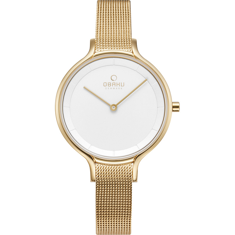 Obaku Women watch KYST - GOLD FRONT view