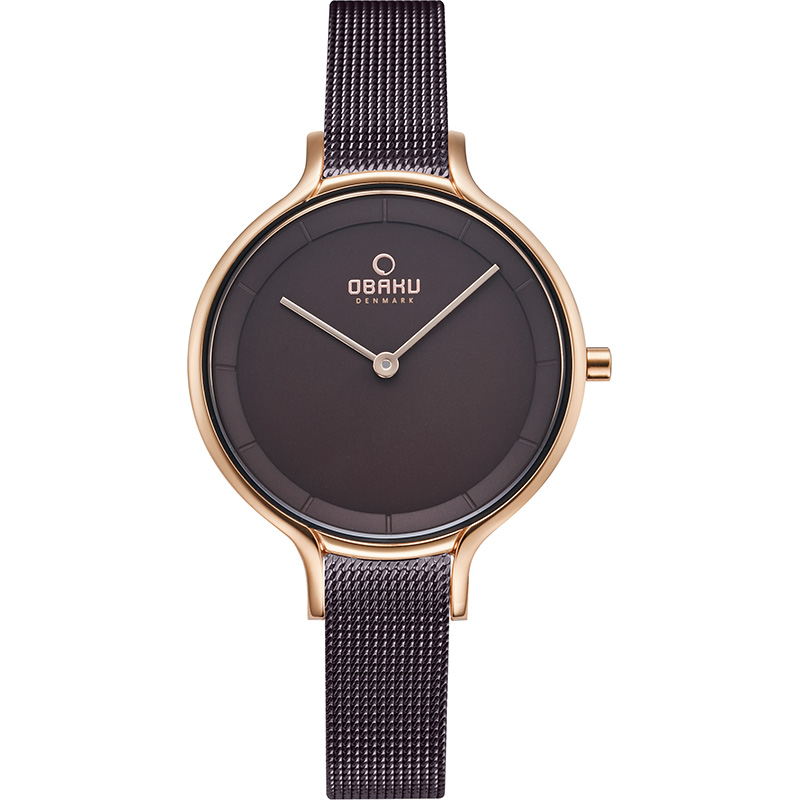 Obaku Women watch KYST - WALNUT FRONT view