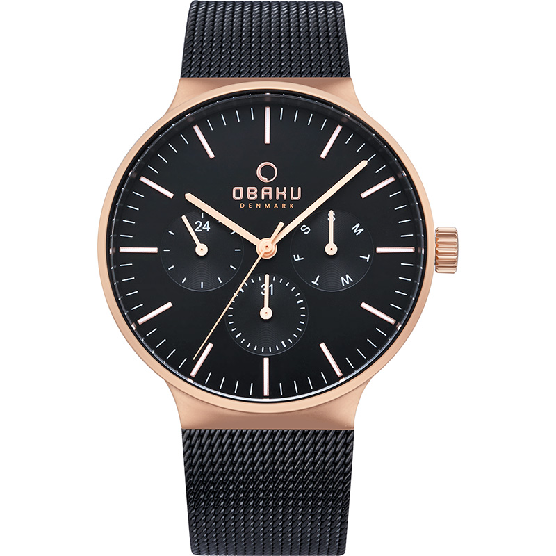 Obaku Men watch MOS - NIGHT FRONT view