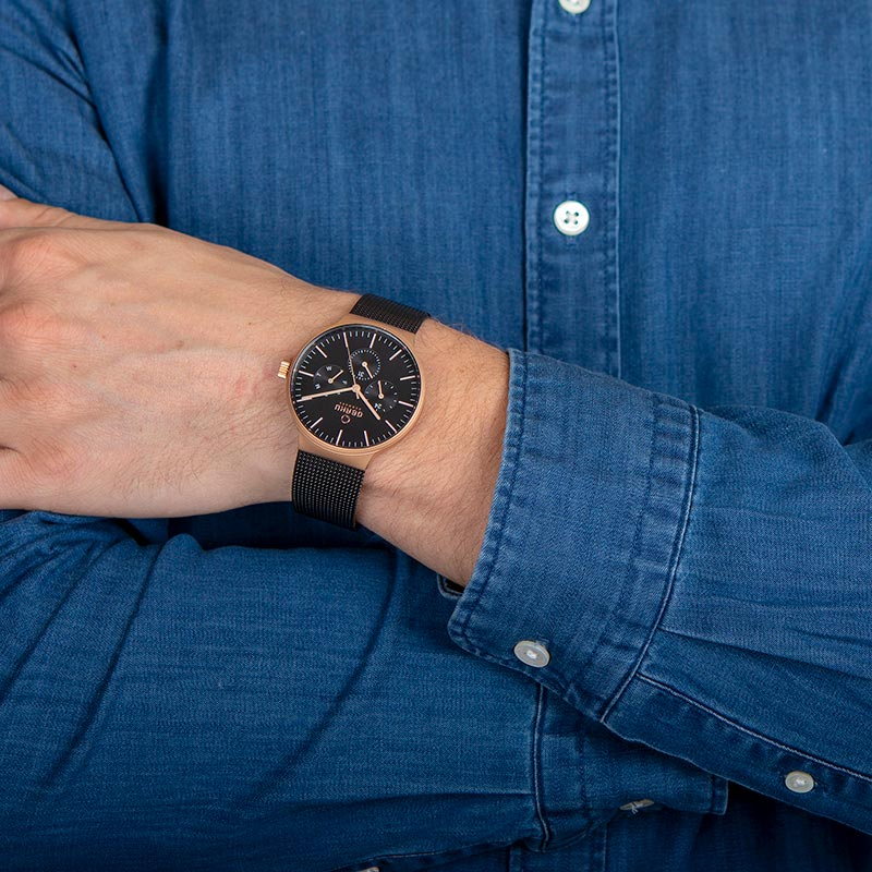 Obaku Men watch MOS - NIGHT WRIST view