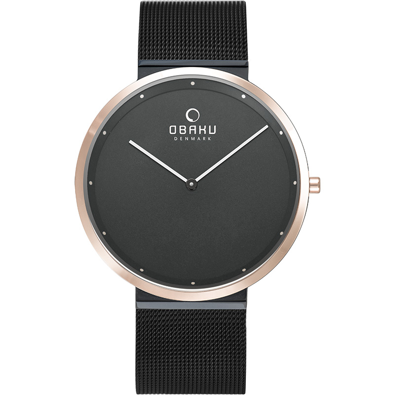 Obaku Men watch PAPIR - NIGHT FRONT view