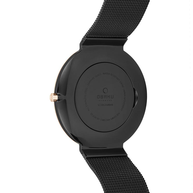 Obaku Men watch PAPIR - NIGHT BACK view