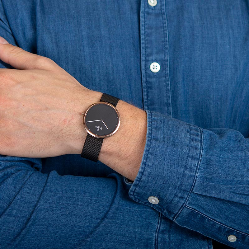 Obaku Men watch PAPIR - NIGHT WRIST view