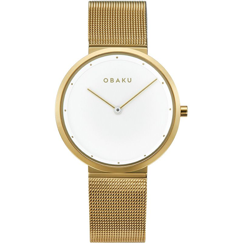 Obaku Women watch PAPIR LILLE - GOLD FRONT view