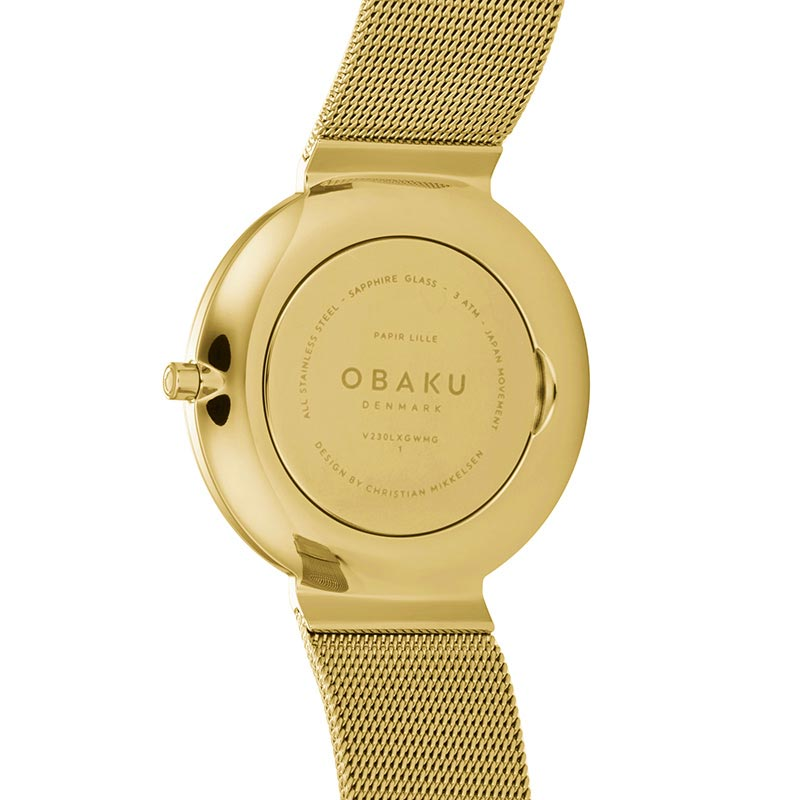 Obaku Women watch PAPIR LILLE - GOLD BACK view