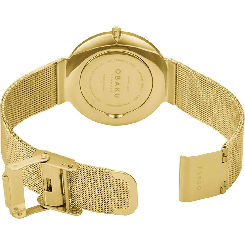 Obaku Women watch PAPIR LILLE - GOLD OPEN view