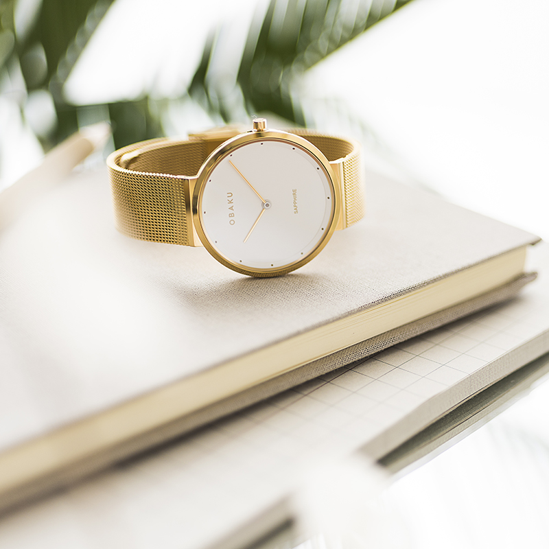 Obaku Women watch PAPIR LILLE - GOLD SM1 view