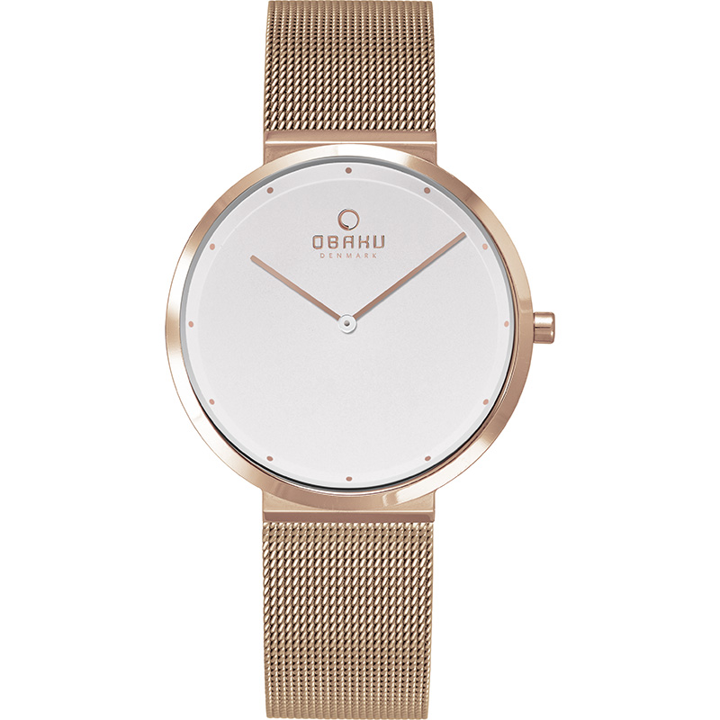 Obaku Women watch PAPIR LILLE - ROSE FRONT view