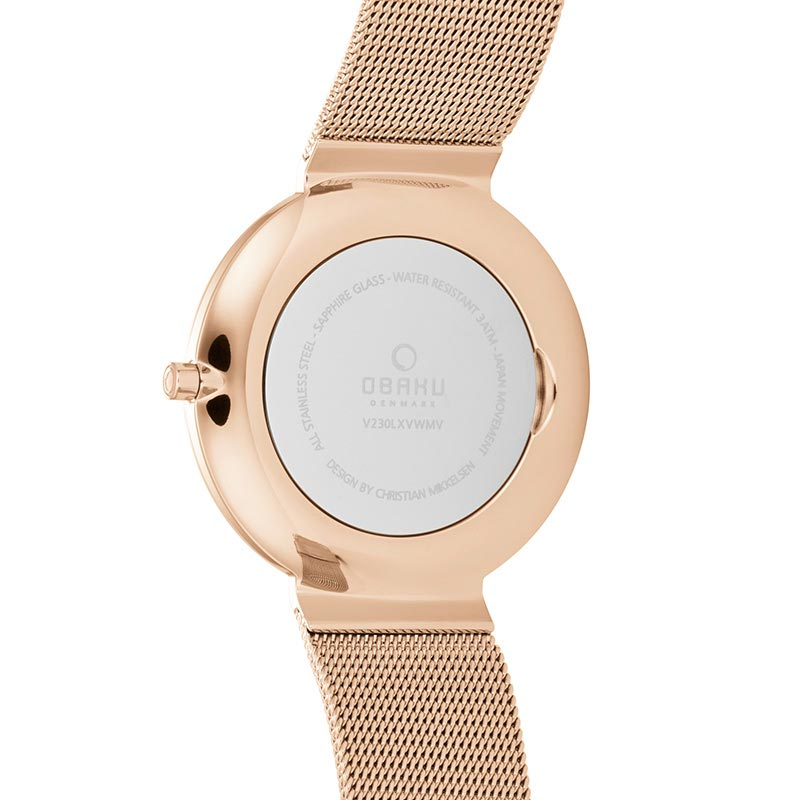 Obaku Women watch PAPIR LILLE - ROSE BACK view