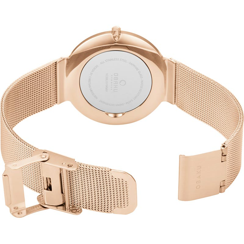 Obaku Women watch PAPIR LILLE - ROSE OPEN view