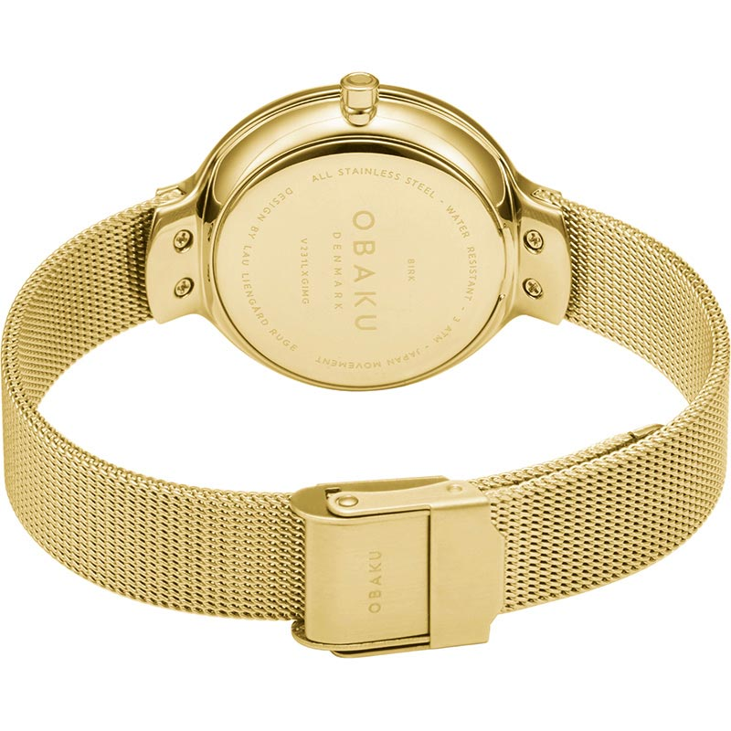 Obaku Women watch BIRK - GOLD CLOSE view