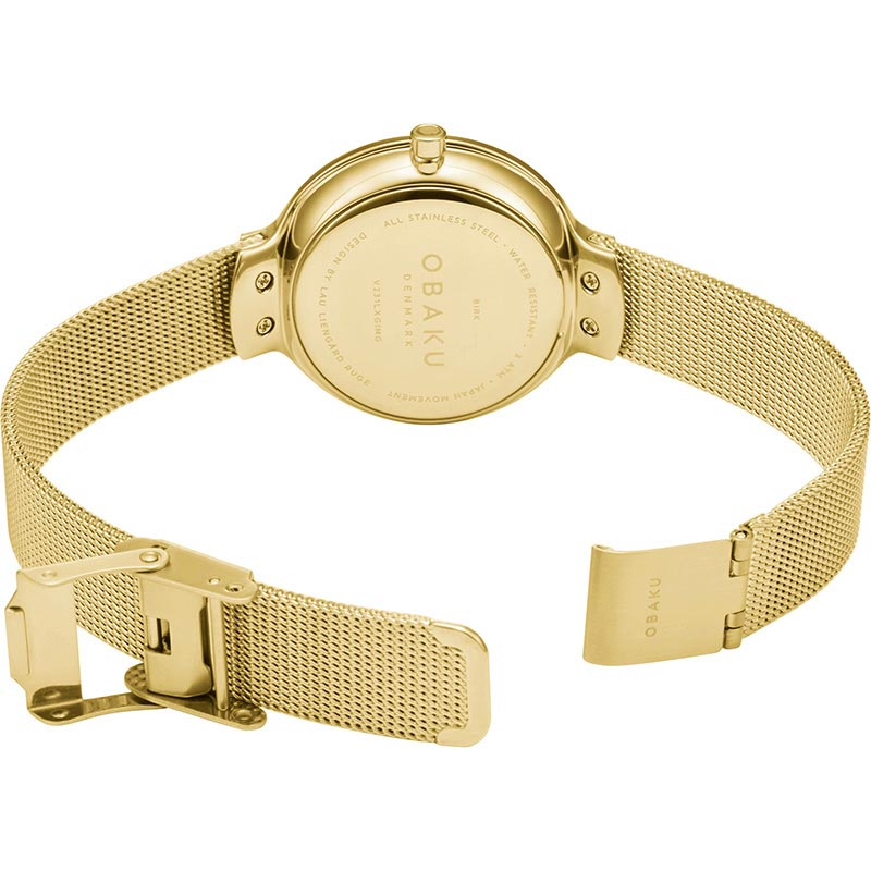 Obaku Women watch BIRK - GOLD OPEN view
