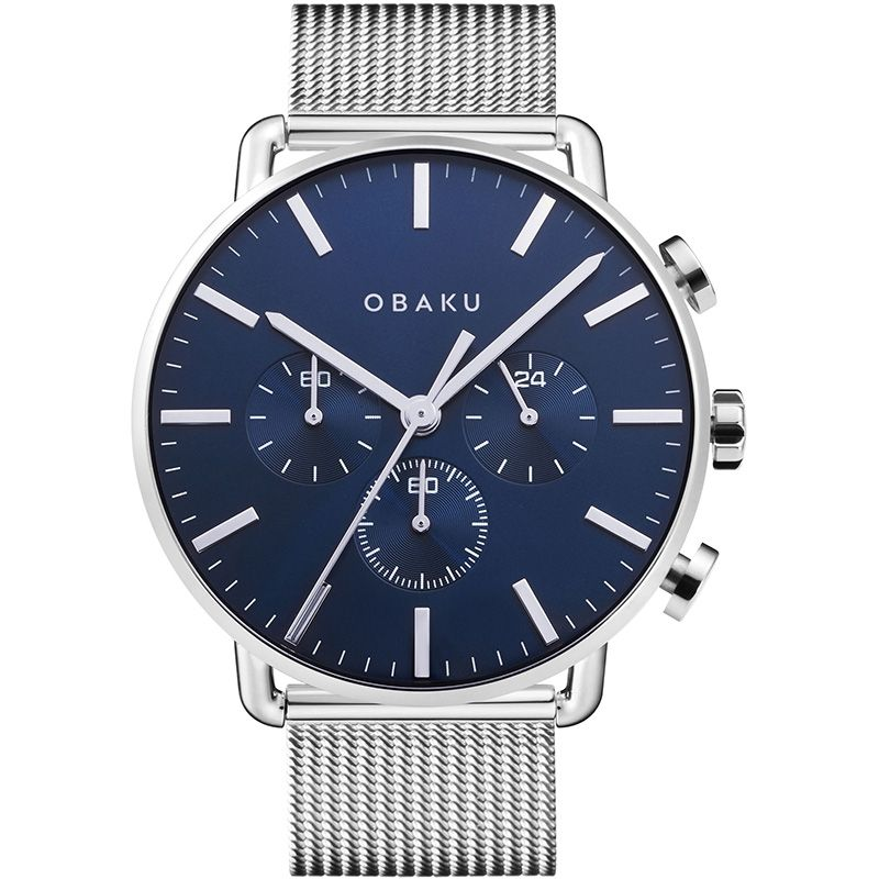 Obaku Men watch HAVN - CYAN FRONT view