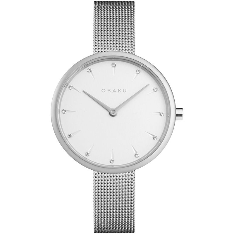 Obaku Women watch NOTAT - STEEL FRONT view