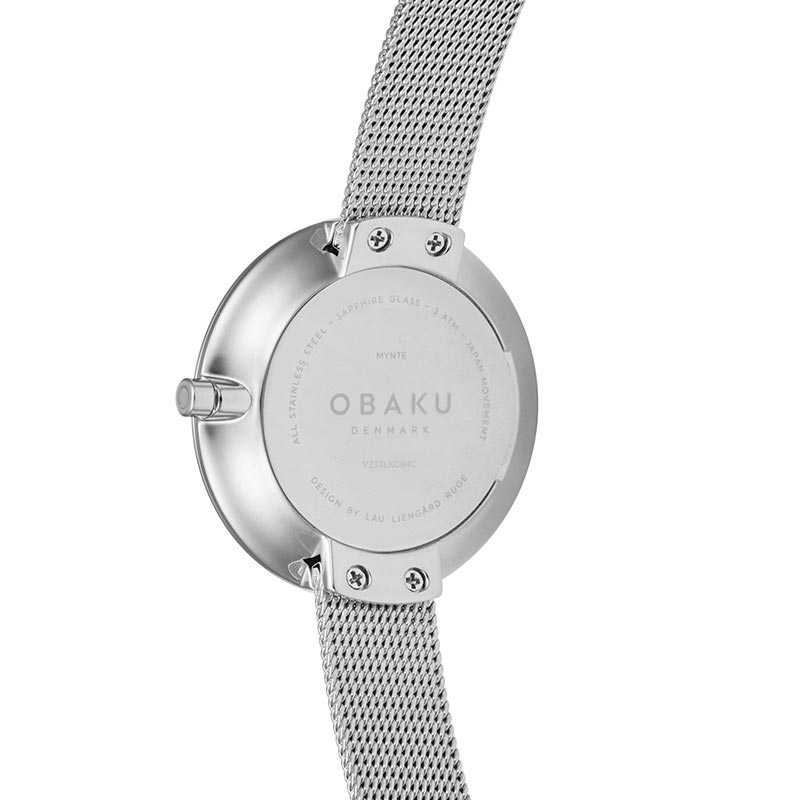 Obaku Women watch NOTAT - STEEL BACK view