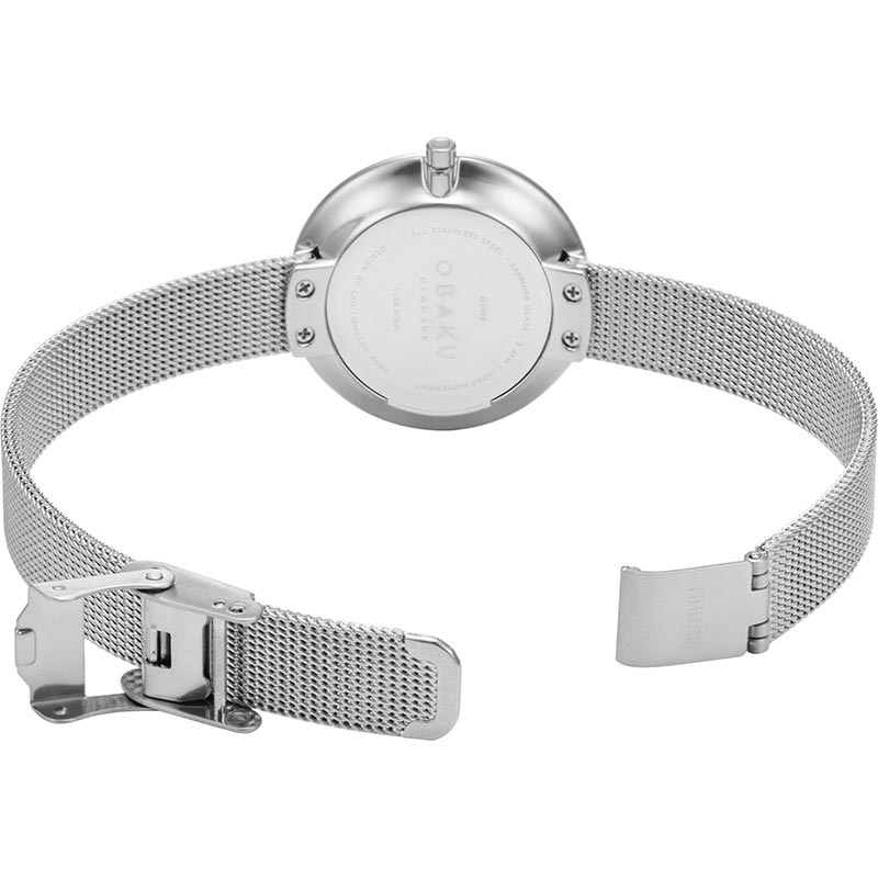 Obaku Women watch NOTAT - STEEL OPEN view